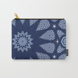 Navy and White Carry-All Pouch
