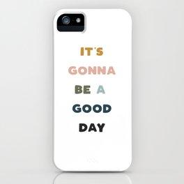 Good Day - Retro Rainbow iPhone Case