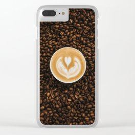 Coffee Beans Coffee Cup Clear iPhone Case