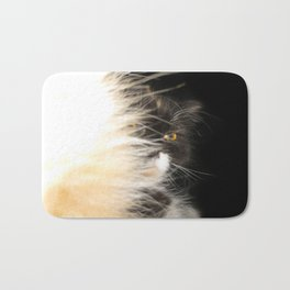 Fluffy Calico Cat Bath Mat