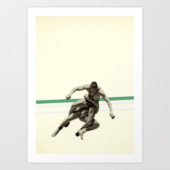 The Wrestler Art Print