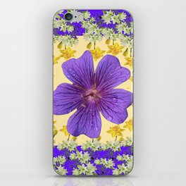 PANTENE ULTRA VIOLET PURPLE FLOWERS ART DESIGN iPhone Skin
