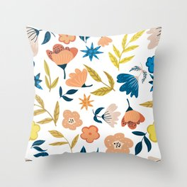 Ahana #illustration #floral Throw Pillow