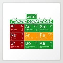 ae'm Sound supervisor Art Print