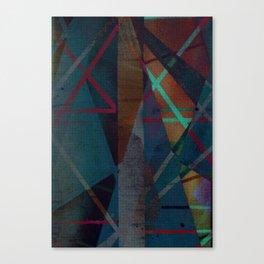 i work the dark seams Canvas Print