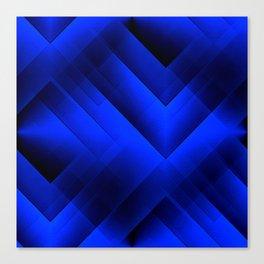 Edgy & Angles Abstract (dark blue) Canvas Print