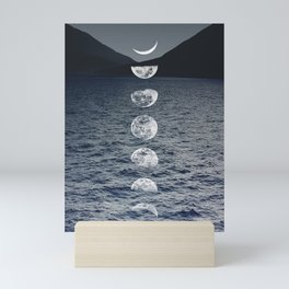 Moon Phases by Night Mini Art Print