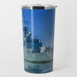 Army Ship in Caribbean Sea, Cartagena - Colombia Travel Mug