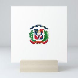 seal of the dominican republic-dominican,hispaniola,dominicana,antilles,caribean,santo domingo Mini Art Print
