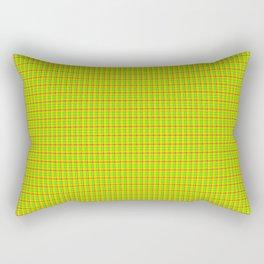 Flamboyant Canary Plaid Rectangular Pillow