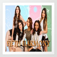 fifth harmony Art Prints featuring fifth harmony best design home decoration ideas by customgift