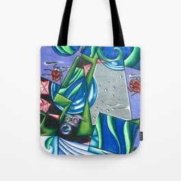 lady bugs on abstract Tote Bag