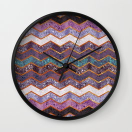 Glitter Waves Wall Clock