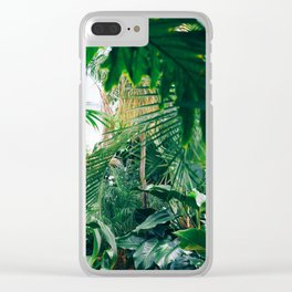 Greenery Jungle (Color) Clear iPhone Case