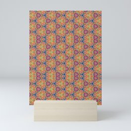 hippie - pattern colorfull Mini Art Print