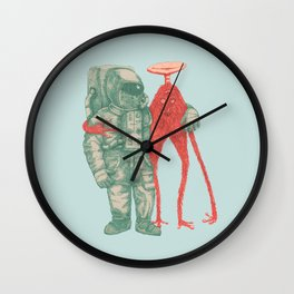 Alien & Astronaut Wall Clock
