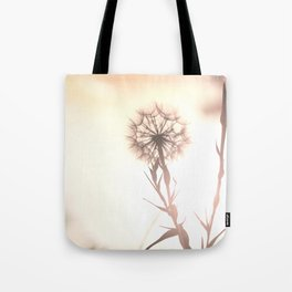 Pink Distant Dandelion Flower - Floral Nature Photography Art and Accessories Tote Bag