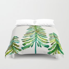 Pine Trees – Green Palette Duvet Cover