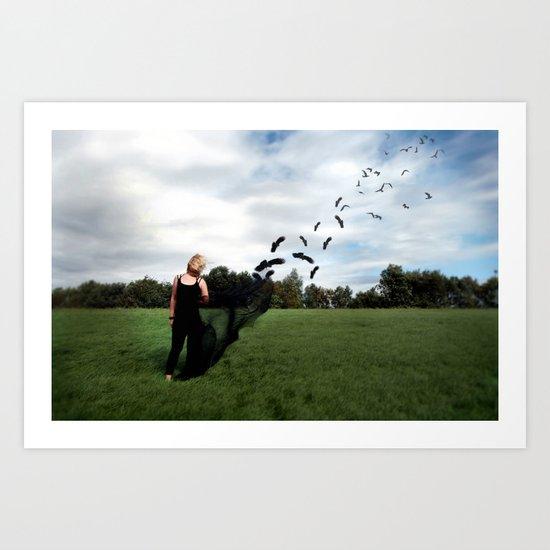Fly's Away... Art Print
