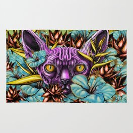 The Sphynx and the Flowers Rug