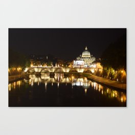 Reflections of St. Peter's on the Tiber Canvas Print