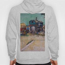 Vincent Van Gogh - Caravans, Gypsy Camp near Arles Hoody