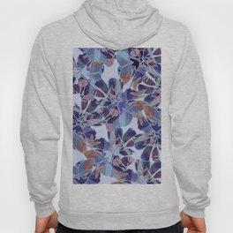 Blue Batik Floral Hoody