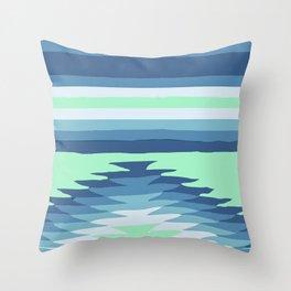 MINT SURF GIRL Throw Pillow