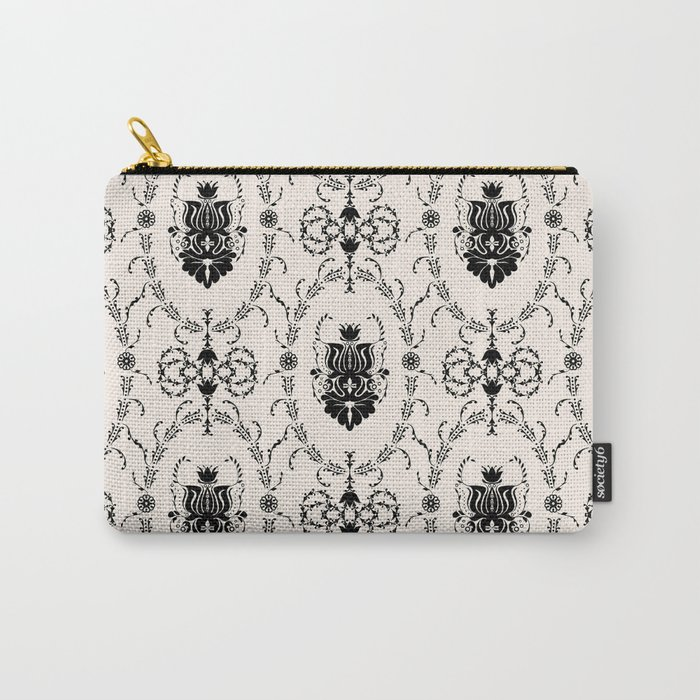 Seamless wallpaper background floral vintage Carry-All Pouch