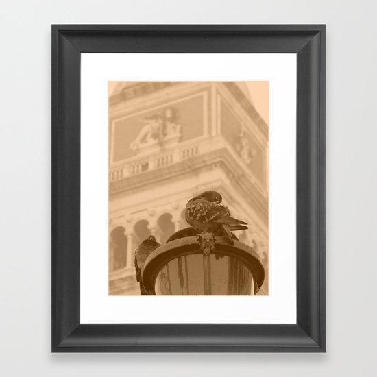 Venetian birds Framed Art Print