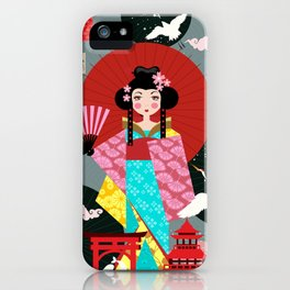 Japanese Doll iPhone Case