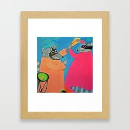 Altercation over Cheese Framed Art Print
