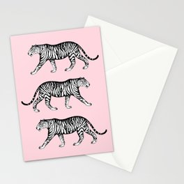 Tigers (Pink and White) Stationery Cards