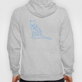 Real Men Love Cats Watercolor Blue Hoody