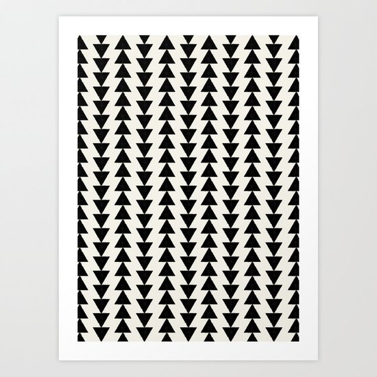 BLACK & WHITE ARROWS Art Print