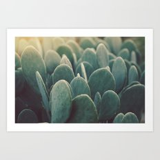 Green + Gold Art Print