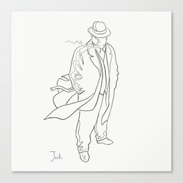 Mobster in contemplation Canvas Print