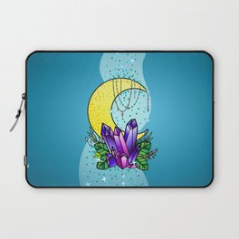 Mystical Crystals and Moon Laptop Sleeve