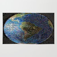 earth Area & Throw Rugs featuring Earth  by 2sweet4words Designs