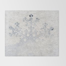 Snowflakes frozen freeze Throw Blanket