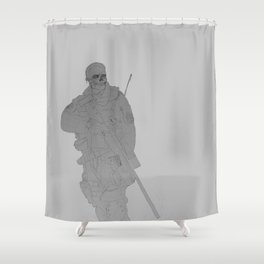 Zombie Sniped Shower Curtain