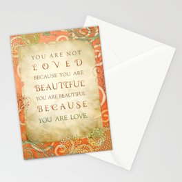 Because You Are Love Stationery Cards