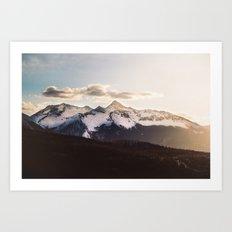 Mountain Valley #hiking Art Print