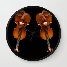 Stradivarius viloin twin Wall Clock