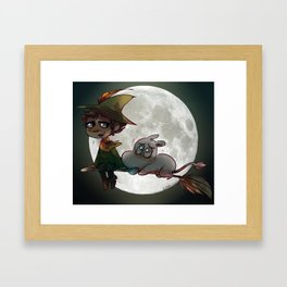 Moon-min Framed Art Print