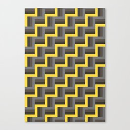 Plus Five Volts - Geometric Repeat Pattern Canvas Print