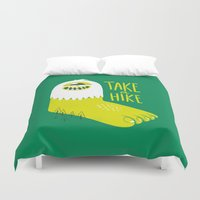 bigfoot Duvet Covers featuring Advice Bigfoot by Morkki