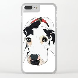 My dog is my Valentine Clear iPhone Case