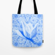 Abstract Bauhinia flower in blue Tote Bag