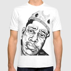 Biggie Smalls Stippling MEDIUM White Mens Fitted Tee